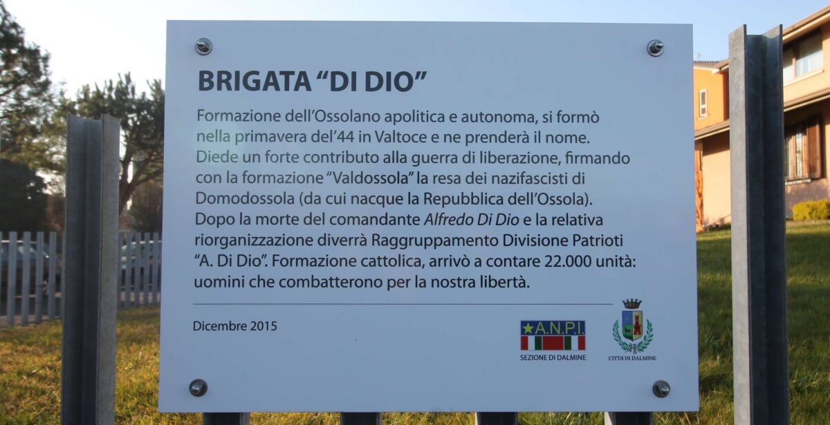 Foto Inaugurazione Targa Brigata di Dio